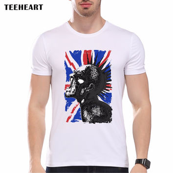 Summer Vintage English flag  Print T Shirt Men's High Quality Punk Not dead O-neck Tops Hipster Tees