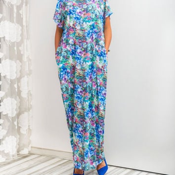 NEW SS16 Floral Caftan, Maxi Dress, Floral dress, Abaya dress, Plus size dress, Plus size clothing ,Oversized dress, Summer dress