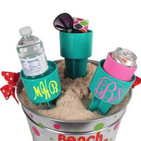 Teal Spiker® Beach Beverage Holder