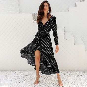 Polka Dots Maxi Dress