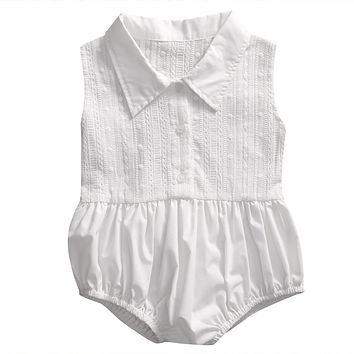 Cute Toddler Kids Baby Girl Romper 2017 Summer Sleeveless Lace Jumpsuit Outfits One Pieces Sunsuit Children Clothes 0-4T