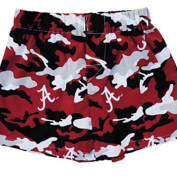 "Children University of Alabama Camo ""cotton"" Boxers"
