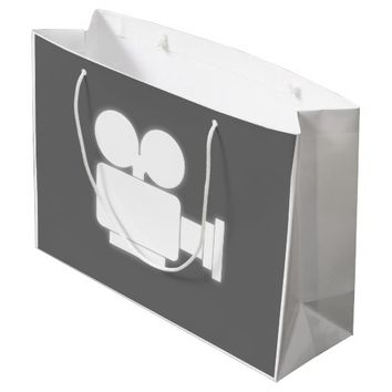 MOVIE CAMERA Large Gift Bag