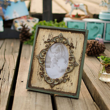 Retro European Style Wood Photo Frame Pastoral Style Home Accessories Creative Gifts