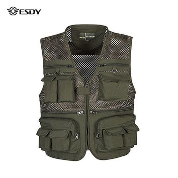 Tactical Vest L-4XL Outdoor Sport Waistcoats Plus Size Camo Molle Vest Military Fishing Hunting Vest Sleeveless Jacket Nerf Vest