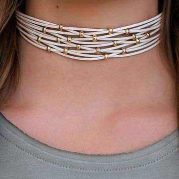 Radiant Dream Choker - Beige