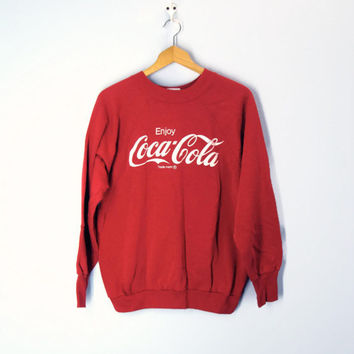 vintage 80s Coca-Cola red sweatshirt