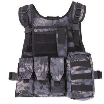 High Quality Tactical Vest Chaleco Swat Seal Camouflage Amphibious CS Counterterrorism Military Protective Training Combat