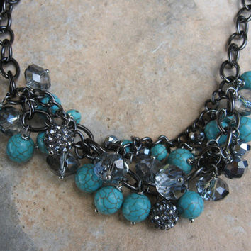 Turquoise Bubble Bead Necklace