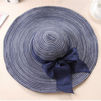 Women Beach Hat Wide Large Brim Floppy Summer Outdoor Holiday Straw Cap Sun Hat