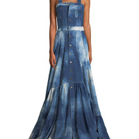 Ralph Lauren Collection Brooke Sleeveless Denim Evening Gown