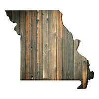 Missouri Faux Wooden wall decal