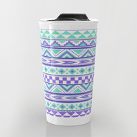 Tribal Pattern mint Green Purple Travel Mug by Tjc555 | Society6