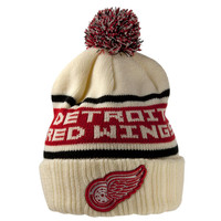 Detroit Red Wings - Logo Pillow Line Adult Pom Pom Knit Hat
