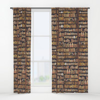 Read to live, live to read. Window Curtains by anipani