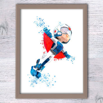 Paw Patrol watercolor poster Ryder Paw Patrol print Paw Patrol leader Home decoration Kids room wall art Nursery room decor Gift idea V287