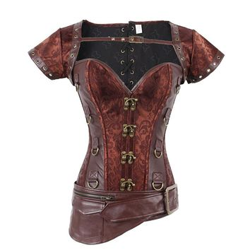 Steampunk Underbust Corset Burlesque Costumes Waist Corsets Steel Boned Gothic Clothing SEXY WOMEN'S CORSET