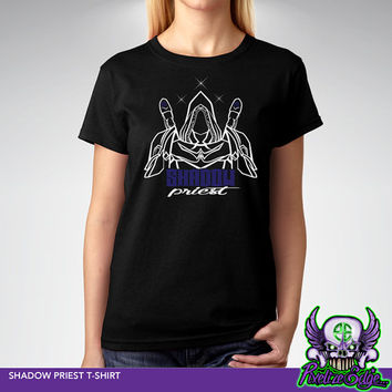 Shadow Priest T-shirt, World of Warcraft Inspired, Wow Dps T-shirt