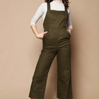 Lucca Briana Cropped Overall Jumpsuit
