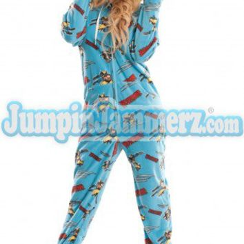 Wolverine - Marvel Comics - Pajamas Footie PJs Onesuit One Piece Adult Pajamas