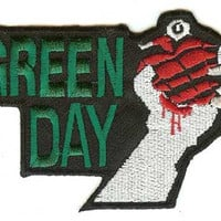 Green Day Iron-On Patch Hand Grenade Logo