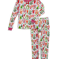 Klever Kids Two Piece Patterned Pajamas