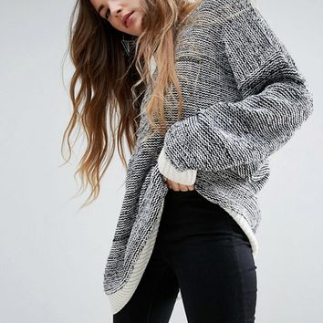 ASOS Oversized Jumper In Twisted Yarn at asos.com