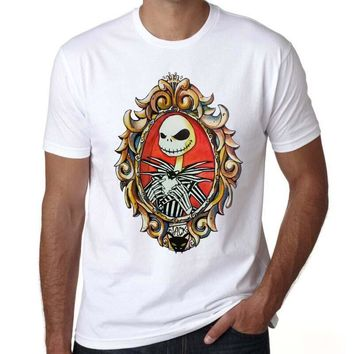2016 Corpse Bride designer t shirts men Casual Short Sleeve Gothic Nightmare Before christmas Tee Tops Clothes