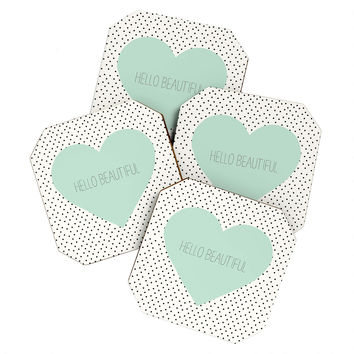 Allyson Johnson Hello Beautiful Heart Coaster Set