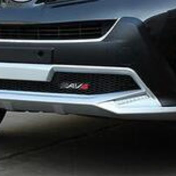 High quality plastic ABS Chrome Front + Rear bumper cover trim for 2009 2010 2011 RAV4 car styling cfr mkj