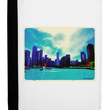 Chicago Skyline Watercolor Ipad Mini Fold Stand  Case by TooLoud