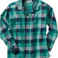 Old Navy Girls Plaid Flannel Shirts