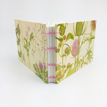 Wedding guest book, Scottish wedding, Thistles, Garden Journal, Notebook planner, Journal Notebook, Botanical Sketchbook, Floral Journal