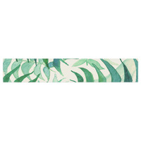 "Viviana Gonzalez ""Botanical Vibes"" Green Beige Watercolor Table Runner"