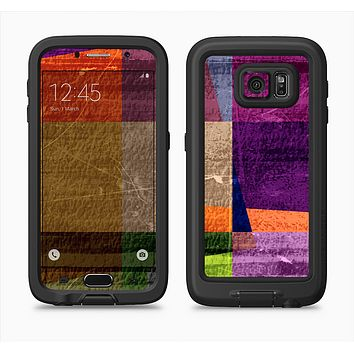 The Vintage Highlighted Panels of Color Full Body Samsung Galaxy S6 LifeProof Fre Case Skin Kit