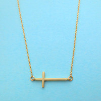 Simple, Dainty, Cross, Necklace, Cross, Jewelry, Gold/ Silver, Cross, Necklace, Cute, Minimal, Modern, Celebrity, Style, Necklace