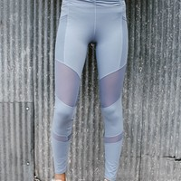 High Tide Work Out Leggings (Blue)