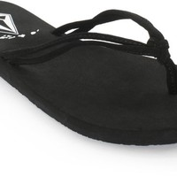 Volcom Forever And Ever Hawaii Black Sandals