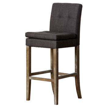 Chandler Linen Barstool, Gray, Bar & Counter Stools