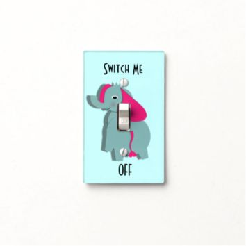 Cute Elephant Switch Me Off Light Switch Cover