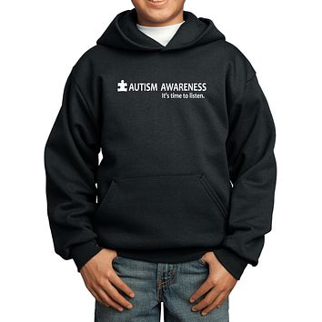 Buy Cool Shirts Autism Awareness Time to Listen Youth Kids Hoodie
