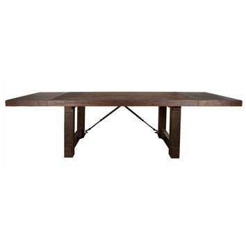 Carter Extension Dining Table Rustic Java