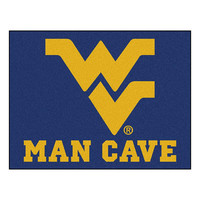 West Virginia Mountaineers NCAA Man Cave All-Star Floor Mat (34in x 45in)