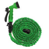 100FT Expanding Water Hose Pipe Flexible Watering Garden Tool - Default