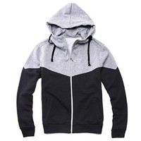 Jeansian Men's Slim Fit Casual Top Jacket Hoodie CoatCasual Top Jacket Hoodie Coat
