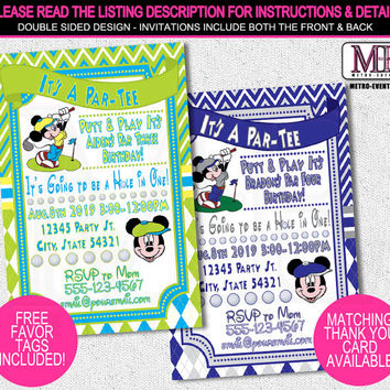 Mickey Mouse Birthday Invitations, Mickey Mouse Invitations, Birthday Invitation, Mickey Invitations, Mickey Birthday, Mickey Invitation