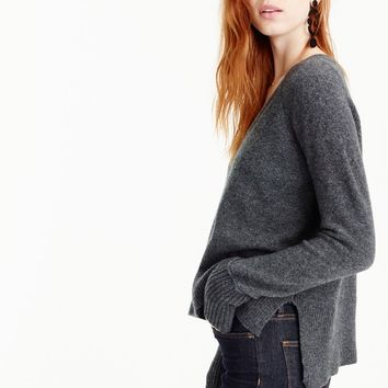 V-neck sweater in supersoft yarn