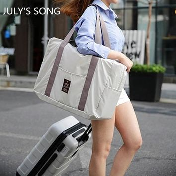 2017 JULY'S SONG Large Capacity Portable Fashion Women Travel Bags Nylon Zipper Weekend Travel Portable bag luggage duffel bags