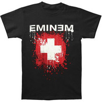 Eminem Men's  Splattered T-shirt Black