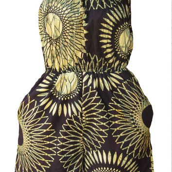 African Print JumpSuit (Size: Small)